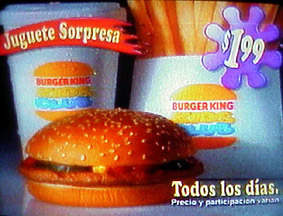 Burger King television commercial