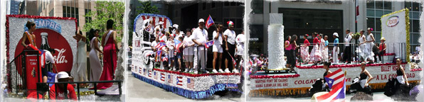 Puerto Rican Day Parade floats
